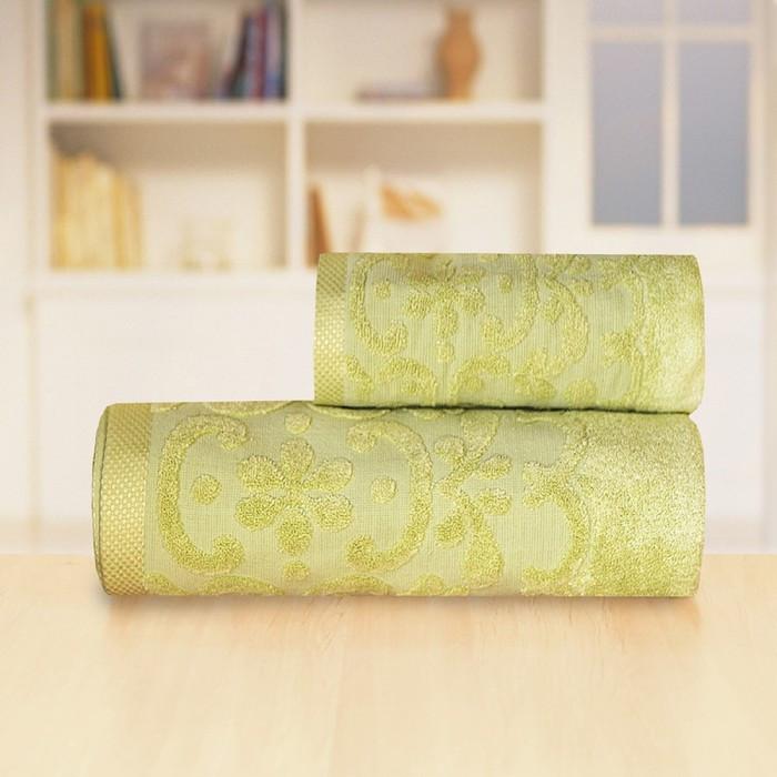 Полотенце «Бамбук жаккард», размер 70 × 140 см, цвет зелёный
