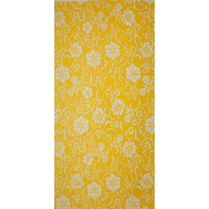 Полотенце махровое Privilea «Полянка», 75х150 см, жёлтый
