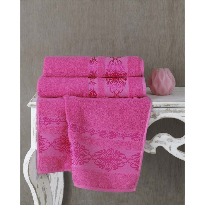 Полотенце Rebeka, размер 50 × 90 см, розовый