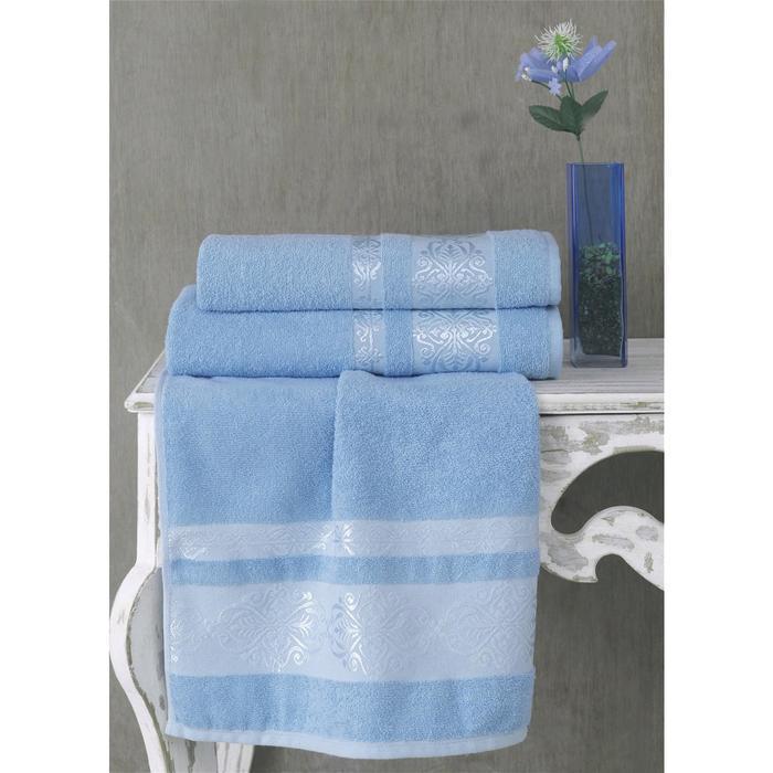 Полотенце Rebeka 50x90 см, цвет голубой