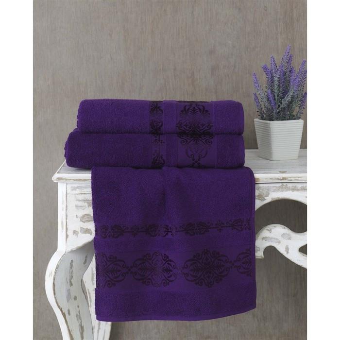 Полотенце Rebeka, размер 70 × 140 см, фиолетовый