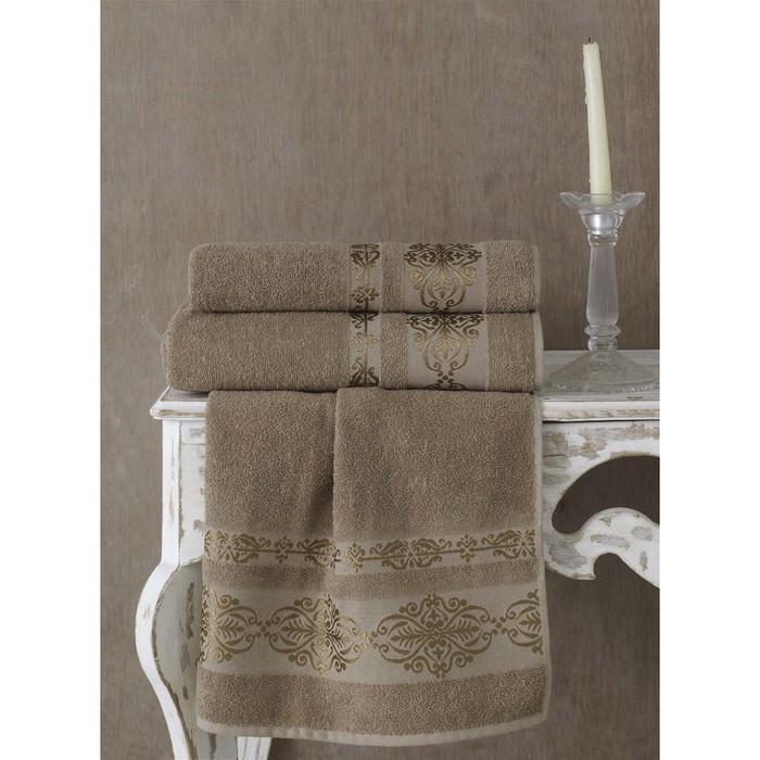 Полотенце Rebeka, размер 70 × 140 см, кофейный