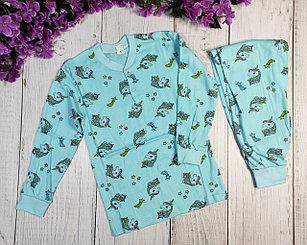 Пижама с единорогами, голубая