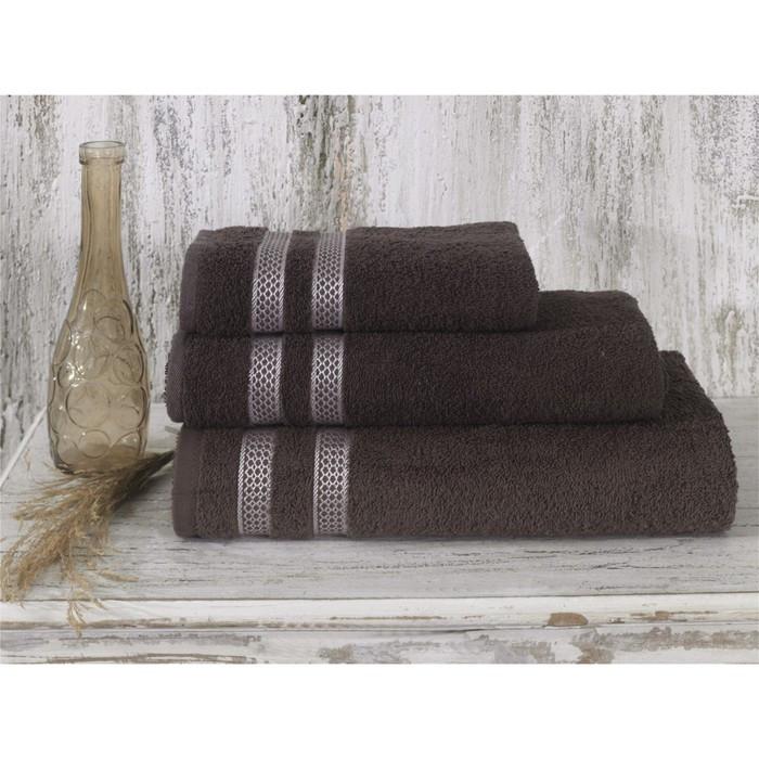 Полотенце Petek, размер 50 × 100 см, коричневый