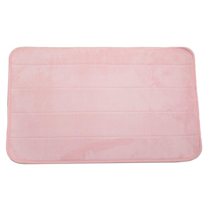 Коврик для дома «Моно», 50×80 см, цвет розовый