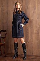 Женское осеннее джинсовое синее платье Nova Line 50011 42р.
