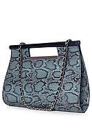 Женская осенняя кожаная бирюзовая сумка Galanteya 6019.0с814к45 бирюза/черный без размерар.