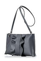 Женский осенний кожаный серый клатч Galanteya 12817.8с3035к45 платина_темн. без размерар.