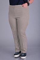 Женские осенние бежевые большого размера брюки Algranda by Новелла Шарм А3548 60р.