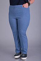 Женские осенние голубые большого размера брюки Algranda by Новелла Шарм А3548-c 60р.