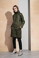 Женское осеннее зеленое пальто BURVIN 7050-61 1 40р.