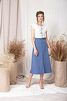 Женская летняя синяя юбка Barbara Geratti by Elma 8125 джинс 42р.
