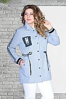 Женская осенняя фиолетовая большого размера куртка Needle Ревертекс 369/14 50р.