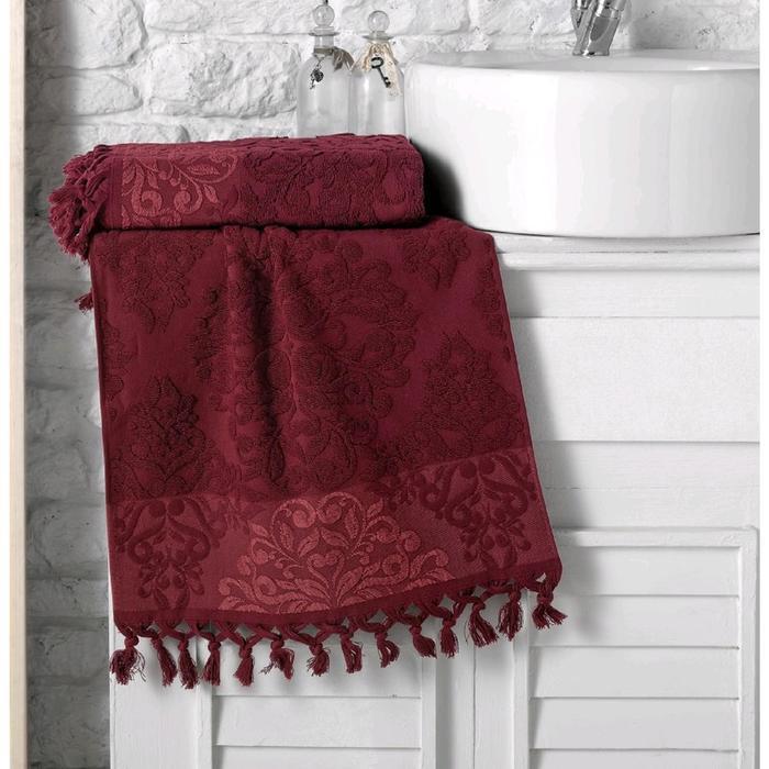 Полотенце Ottoman жаккард 40x60 см, цвет бордовый