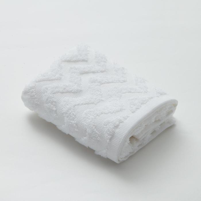 """Полотенце махровое LoveLife """"Zig-Zag"""" 50*90 см, цв. снежно-белый,100% хл, 360 гр/м2"""