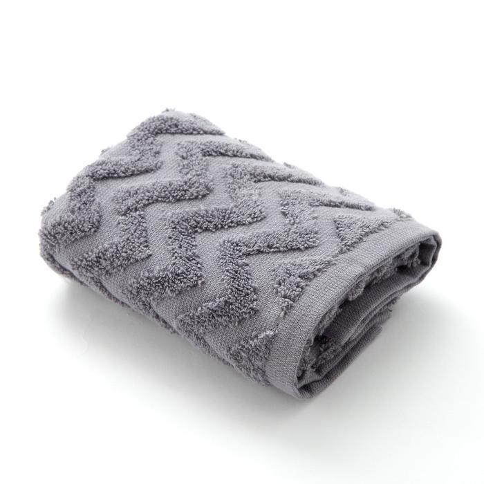 "Полотенце махровое LoveLife ""Zig-Zag"" 50*90 см, цв. серый,100% хл, 360 гр/м2"