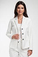 Женский осенний хлопковый белый деловой жакет Femme & Devur 70143 1.32F 42р.