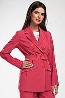 Женский осенний розовый деловой жакет Femme & Devur 70185 1.14F 44р.