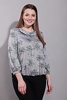 Женская осенняя из вискозы серая большого размера блуза La Prima 0487 50р.