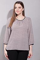 Женская осенняя бежевая большого размера блуза La Prima 0373 50р.