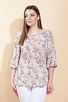 Женская летняя бежевая большого размера блуза La Prima 0436 48р.