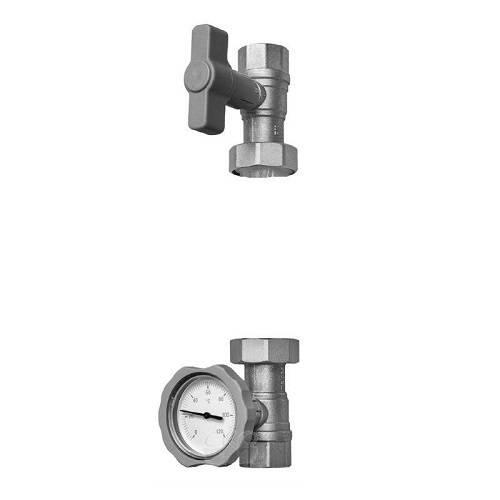 Насосная арматура (кран) для быстрого монтажа системы отопления и ГВС Meibes Тип S1 (Wilo\Grundfos) ME 61130.1