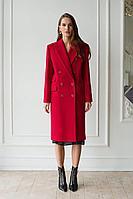 Женское осеннее драповое красное пальто MAL'KO П102 40р.