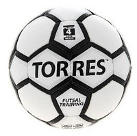 Мяч футзал Torres Futsal Training (4, Бело/черн/сереб)