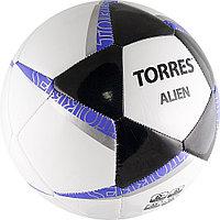 Мяч футб Torres Alien white (5, Бело/черн/фиолет)