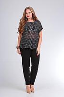 Женские осенние черные деловые брюки Bliss 5310 черный 48р.
