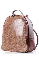 Женский осенний кожаный коричневый рюкзак Galanteya 29815.0с1695к45 рыжий без размерар.