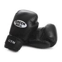Перчатки боксерские Green Hill GYM кож. черные 10oz BGG-2018