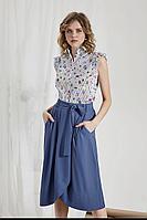 Женская летняя хлопковая серая блуза DIVINA D6.280 42р.