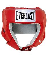 Шлем открытый Everlast USA Boxing L кожа красн. 610400U