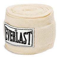 Бинт боксерский Everlast х/б 2.75м белый 4455PU
