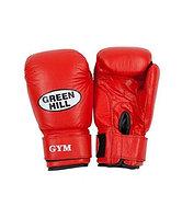 Перчатки боксерские Green Hill GYM кож. красные 10oz BGG-2018