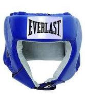Шлем открытый Everlast USA Boxing M кожа син. 610206U