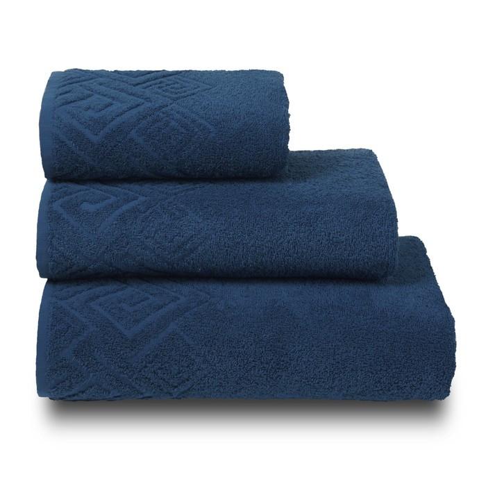Полотенце махровое «Poseidon» цвет синий, 50х90