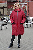Женское зимнее красное пальто Bugalux 950 164-марсала 46р.