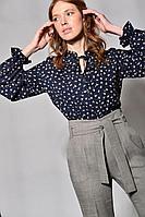 Женская осенняя синяя блуза Your size 2028.164 42р.