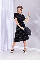 Женская летняя черная юбка Barbara Geratti by Elma 1178Н черный/серебро 42р.