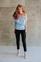 Женские осенние из вискозы черные брюки Avenue Fashion 201 черный 40р.