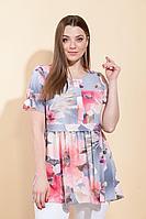 Женская летняя из вискозы большого размера блуза La Prima 0149 48р.