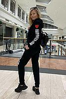 Женский летний трикотажный черный спортивный спортивный костюм Azzara 659 44р.