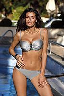Женский летний трикотажный серый раздельный купальник Marko Lucinda.M-617 7 Sр.
