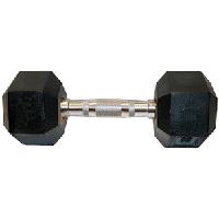 Гантели шестигранные, фиксированные, черные. 25 кг