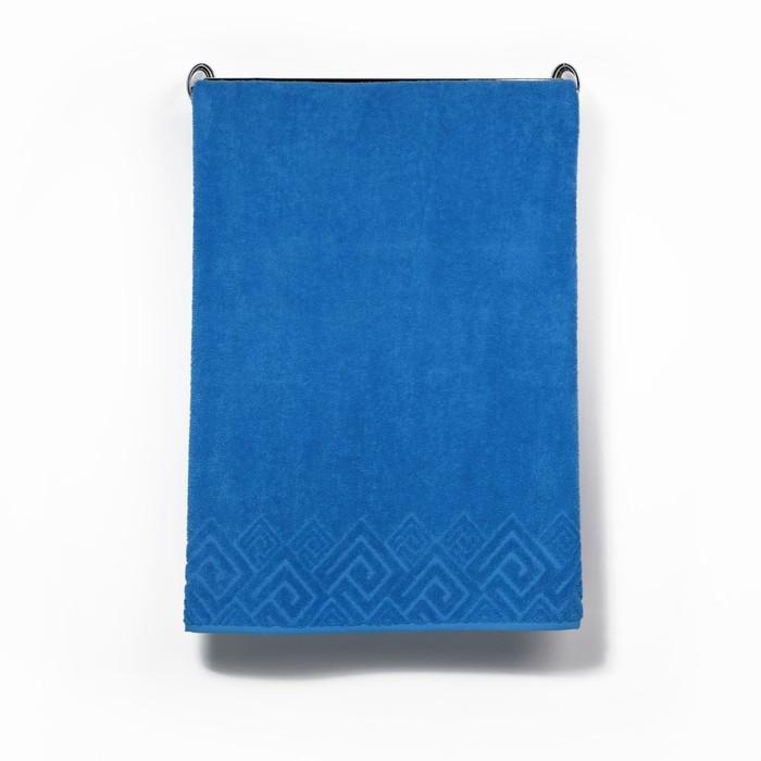 Полотенце махровое «Poseidon» цвет голубой, 50х90
