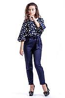 Женские осенние хлопковые синие брюки Nat Max ШБР-0123-35 т.синий 44р.