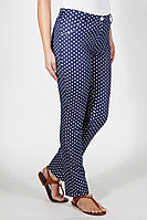 Женские осенние джинсовые синие большого размера брюки Mirolia 303 крупн.горох 44р.