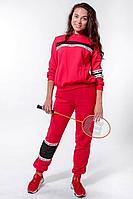 Женский осенний трикотажный красный спортивный спортивный костюм Nat Max ШКМ-0114-32 красный 44р.